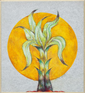 'Grishma' Water-color-&-Gonache-on-Shikishi-board-5.25'x-4.75' inches